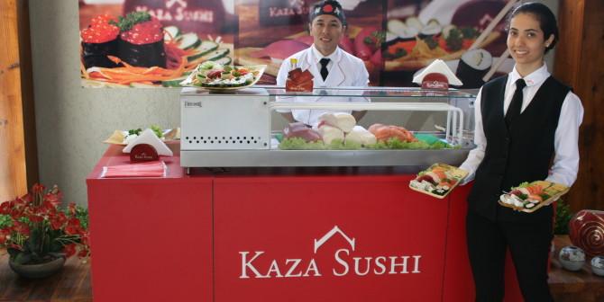 Festa com Comida Japonesa